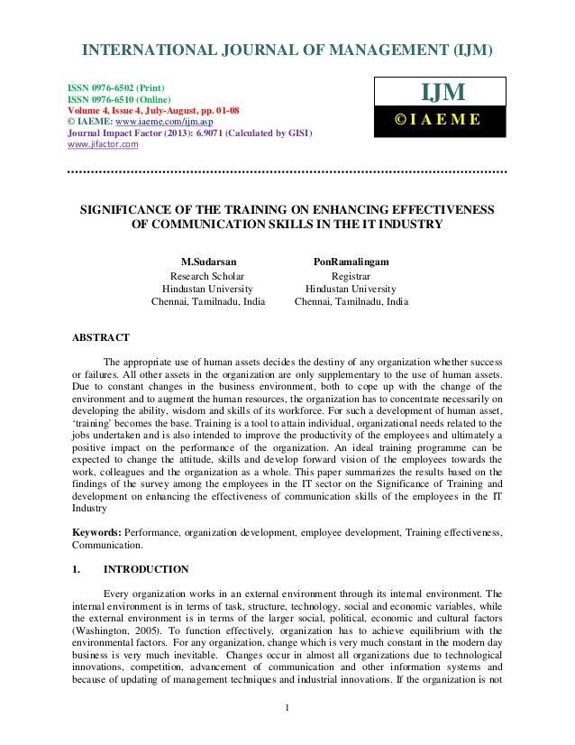 International Journal of Management (IJM), ISSN 0976 – 6502(Print), ISSN 0976 - 6510(Online), Volume 4, Issue 4, July-Augu...