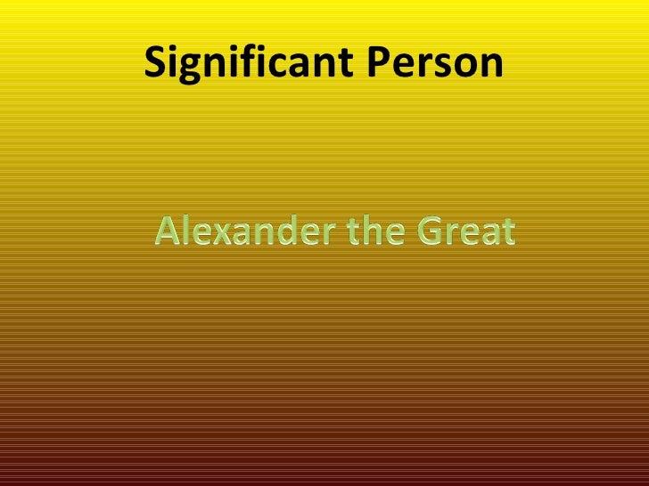 Significant Person