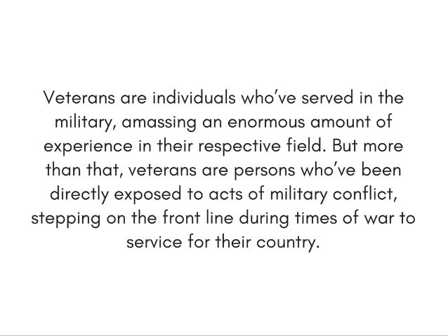 Significant Veterans Benefits You May Not Know About | Michael G. Sheppard Slide 3