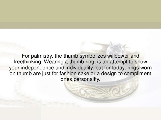 Signification Of Silver Thumb Rings