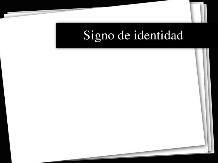 Signo de identidad