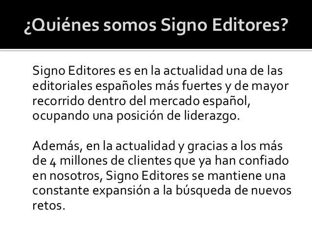 Signo Editores Slide 2