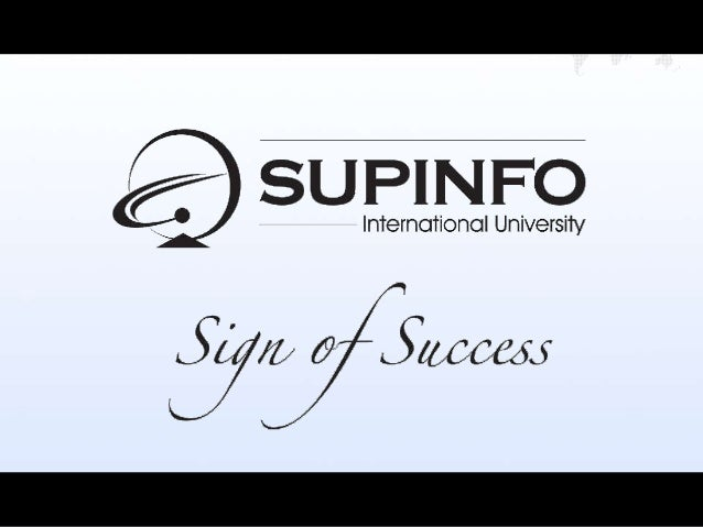 SUPINFO International UniversityL'école d'informatique mondiale, leader en France                Copyright © 1965-2012 SUP...