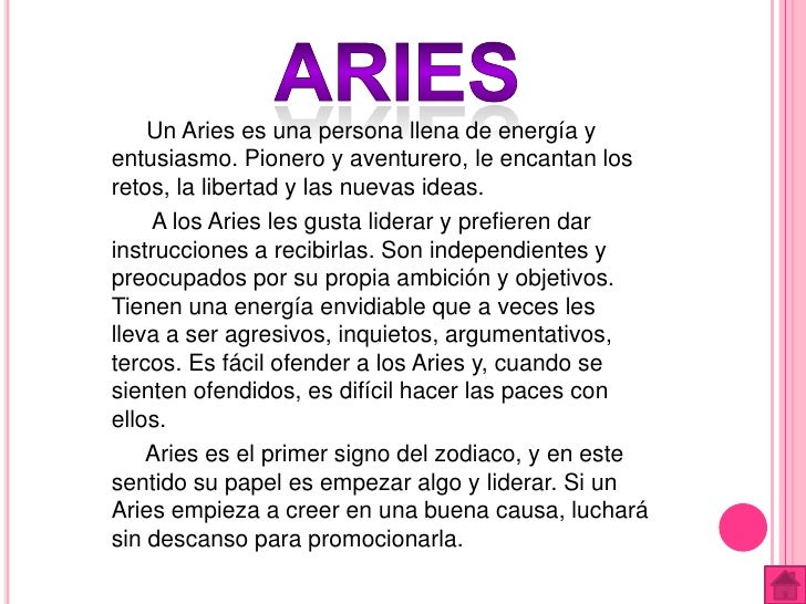 Signos del zodiaco - Primer signo del zodiaco ...