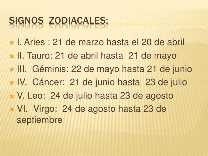 Signos zodiacales - Orden de los signos zodiacales ...