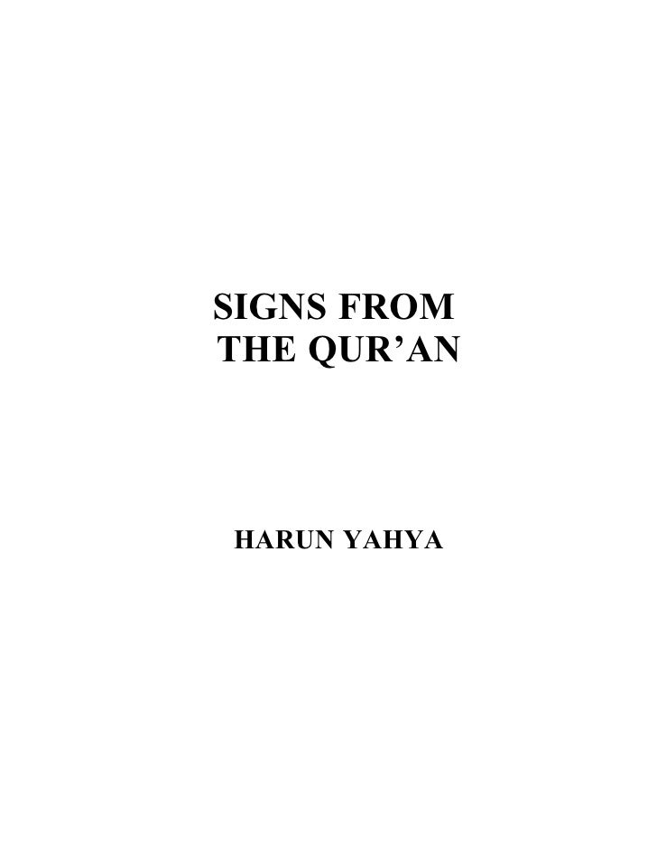 SIGNS FROM THE QUR'AN    HARUN YAHYA