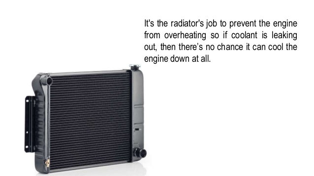 Signs And Symptoms of Radiator Leak