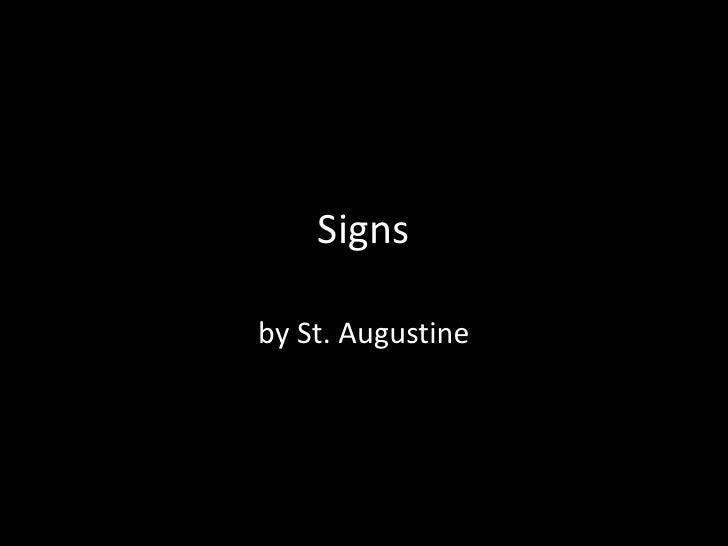 Signsby St. Augustine