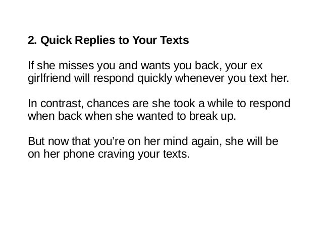 Signs that ex girlfriend wants you back