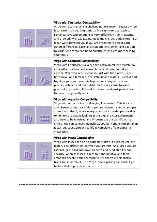 Compatibility with sagittarius and virgo sexual orientation