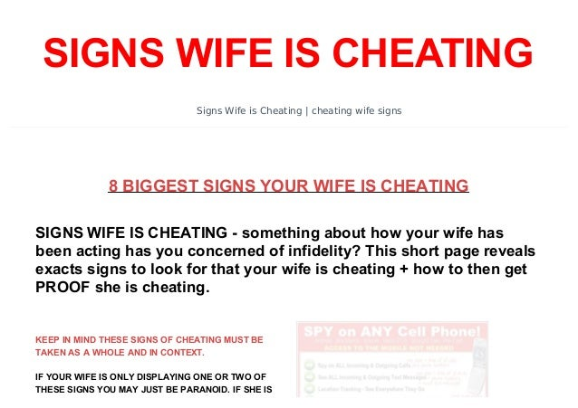 signs your wife has cheated