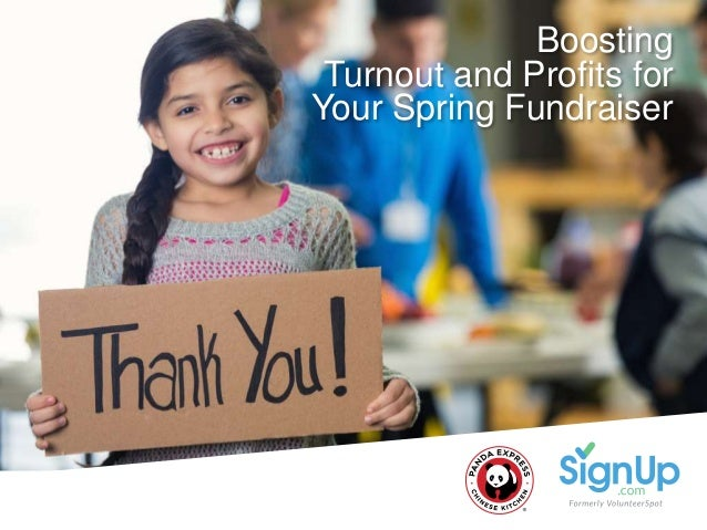 @SignUpdotcom #FUNdraising Boosting Turnout and Profits for Your Spring Fundraiser