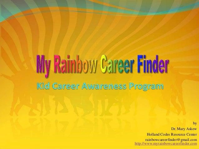 by Dr. Mary Askew Holland Codes Resource Center rainbowcareerfinder@gmail.com http://www.myrainbowcareerfinder.com