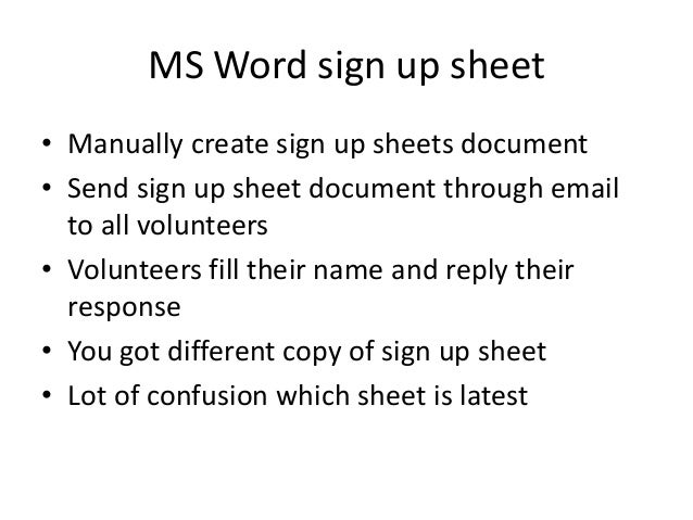 easiest way to create sign up sheets online and take volunteers parti – How to Create a Sign Up Sheet