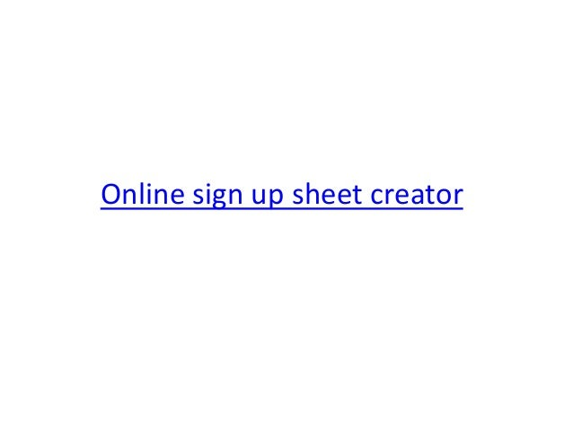 How To Create A Sign Up Sheet. Blackboard : University Of