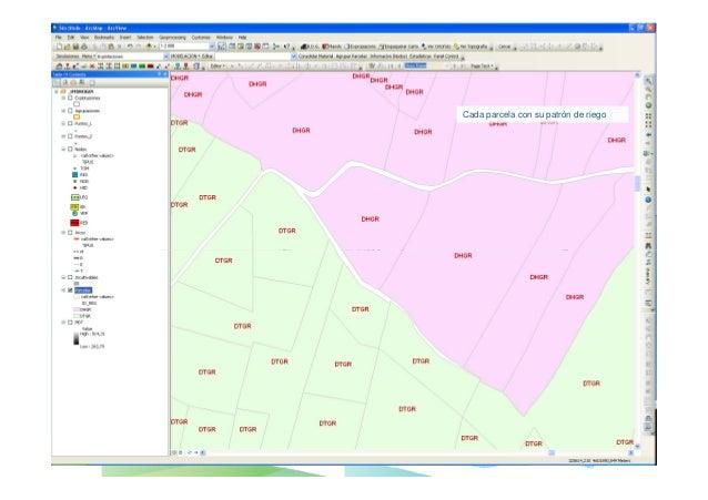 El proyecto de una red de riego con SIGOPRAM2 – EDICIÓN GRÁFICA DE RED•Extender Tubería (Arcos);                          ...