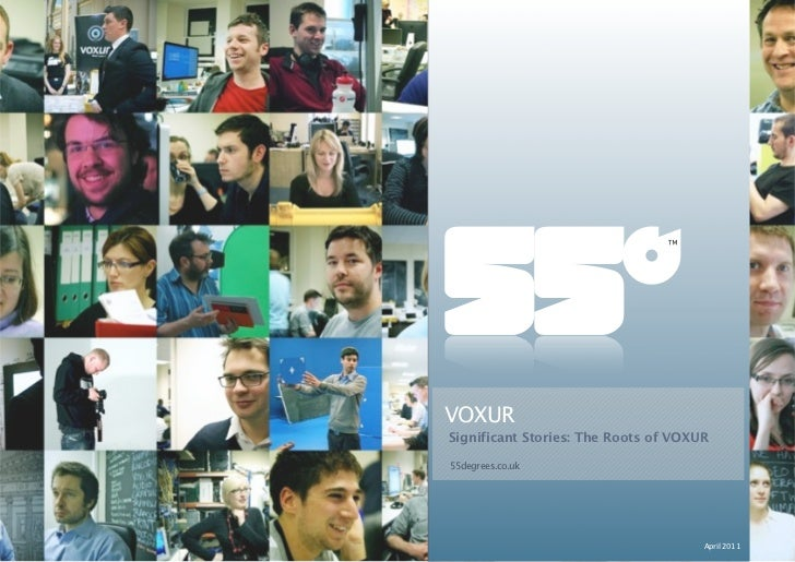 VOXUR                                Significant Stories: The Roots of VOXUR                                55degrees.co.u...