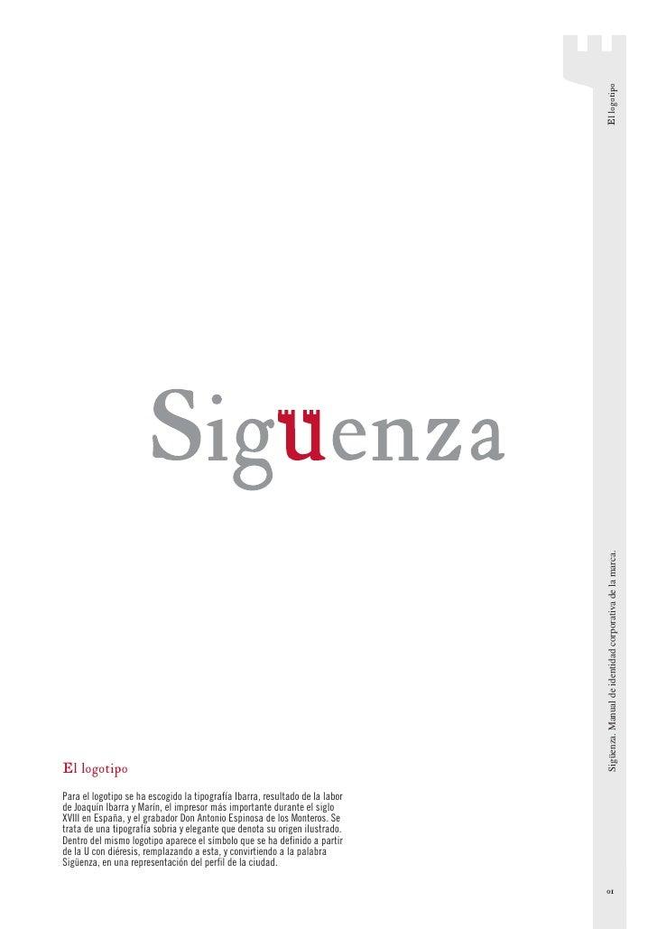 El logotipo                                                                                Sigüenza. Manual de identidad c...