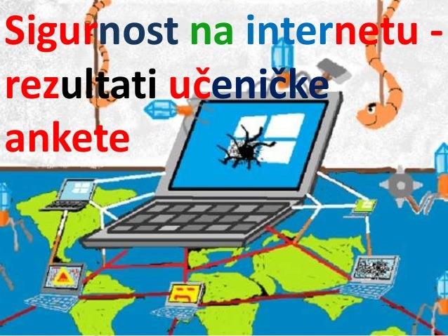 Sigurnost na internetu - rezultati učeničke ankete