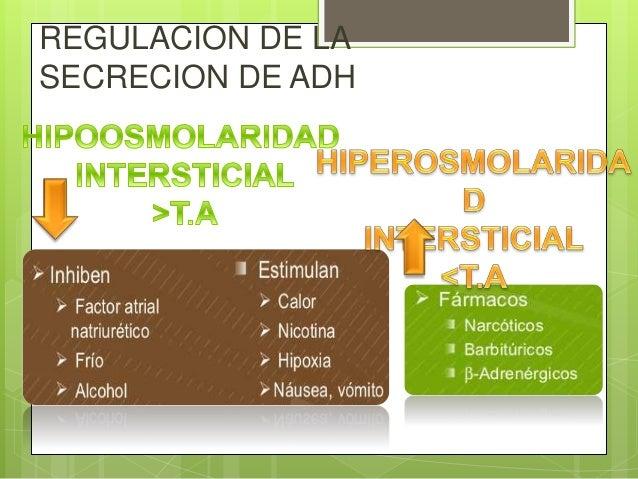 regulación de la diabetes de secreción adh