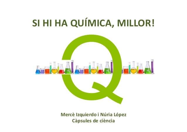 SI HI HA QUÍMICA, MILLOR! Mercè Izquierdo i Núria López Càpsules de ciència