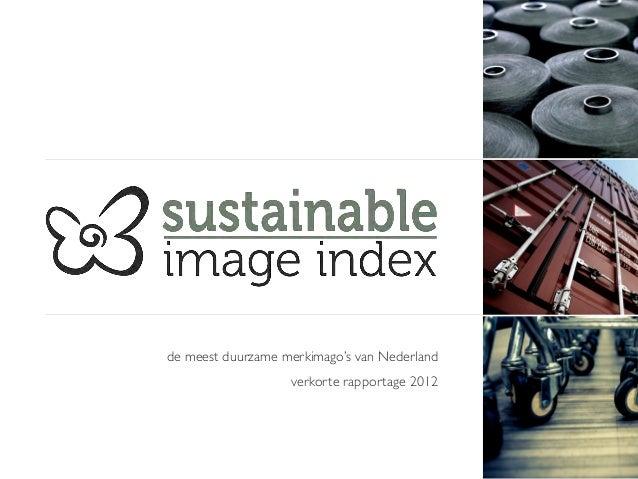 de meest duurzame merkimago's van Nederland                                                              verkorte rapport...
