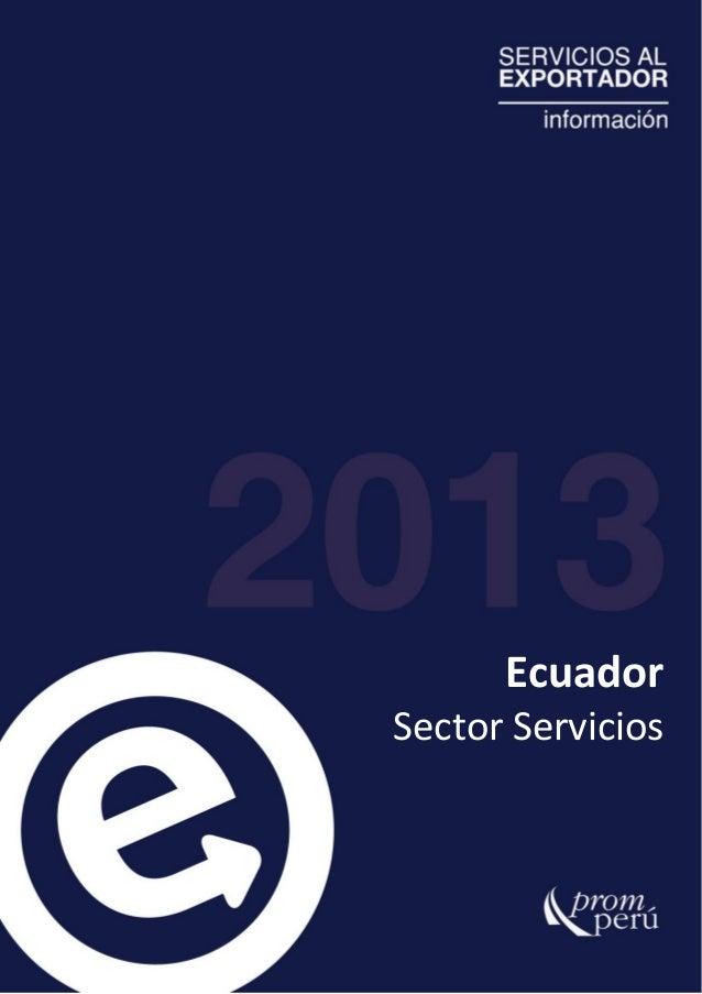 EcuadorSector Servicios