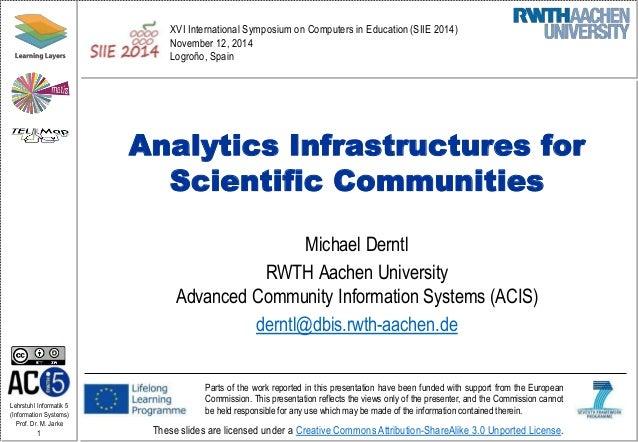 Analytics Infrastructures for Scientific Communities