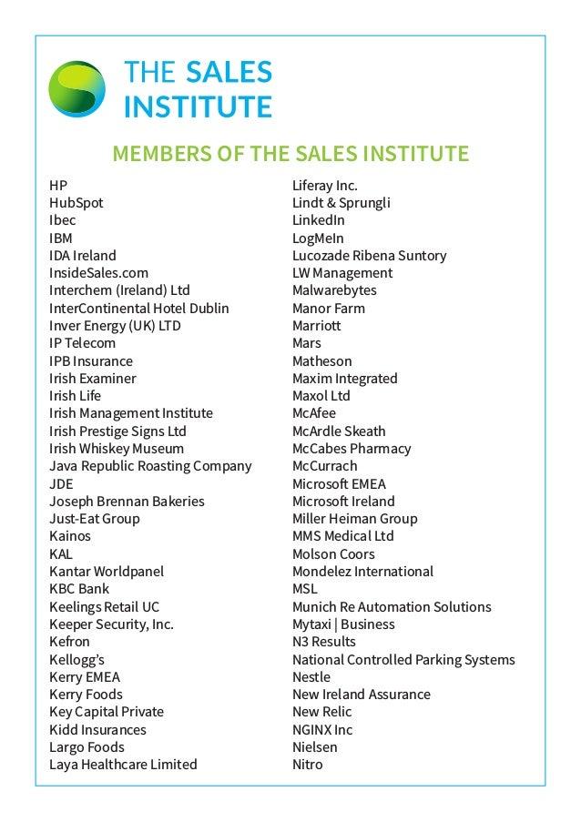 SII Member Companies October 2018