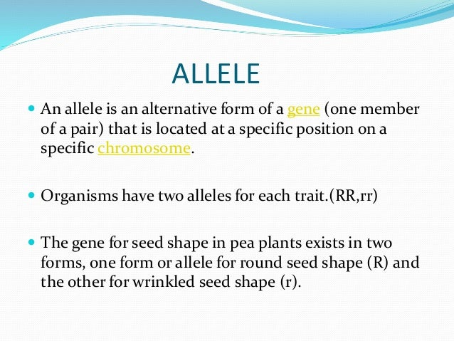 Allelic frequency