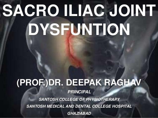 SACRO ILIAC JOINT DYSFUNTION (PROF.)DR. DEEPAK RAGHAV PRINCIPAL SANTOSH COLLEGE OF PHYSIOTHERAPY SANTOSH MEDICAL AND DENTA...