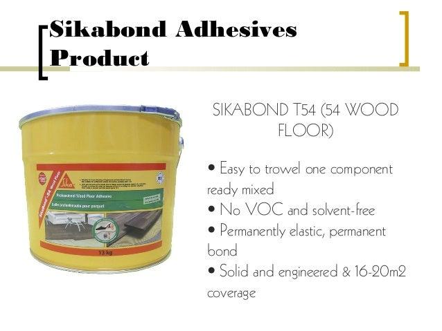 Sikabond T54 Wood Floor Adhesive Floor Matttroy