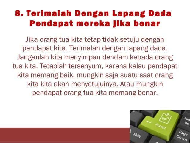 Sikap Saat Berbeda Dengan Orangtua