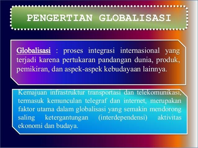 Sikap Terhadap Dampak Globalisasi