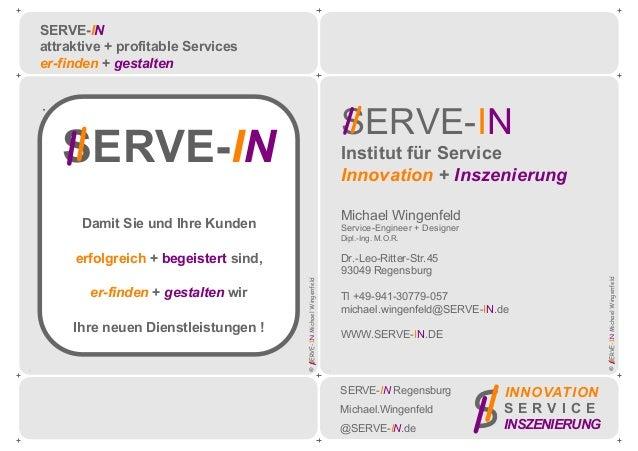 Veranstaltung Titel Untertitel Firma Ort + Datum Kunden-Logo ©SERVE-INMichaelWingenfeld ©SERVE-INMichaelWingenfeld . . SER...
