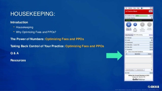 Taking Back Control of Your Practice: Optimizing Fees and PPOs Slide 3