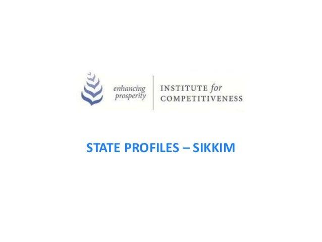 STATE PROFILES – SIKKIM