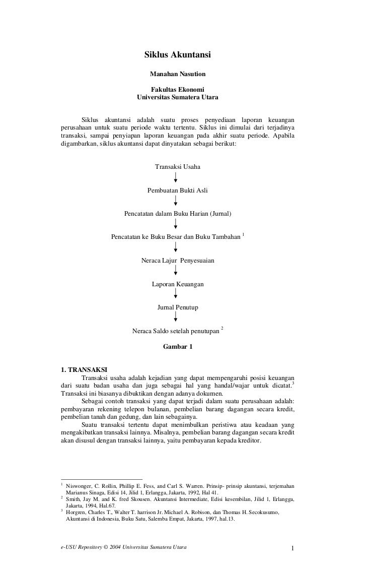 Siklus Akuntansi                                       Manahan Nasution                                      Fakultas Ekon...