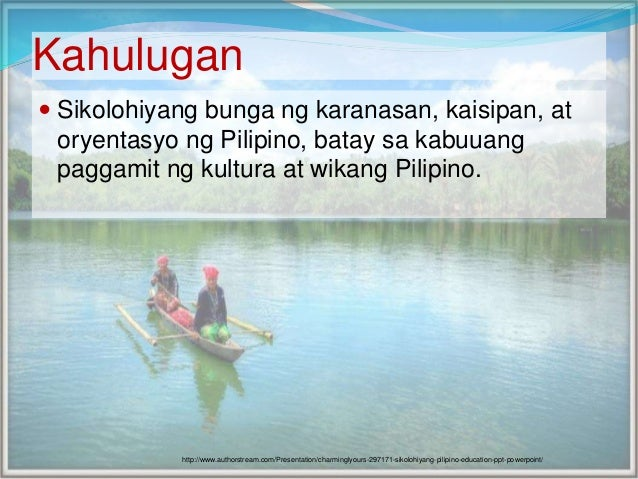 sikolohiyang pilipino Critical psychology in changing world 765 sikolohiyang pilipino: 50 years of critical-emancipatory social science in the philippines narcisa paredes-canilao university of the philippines baguio.