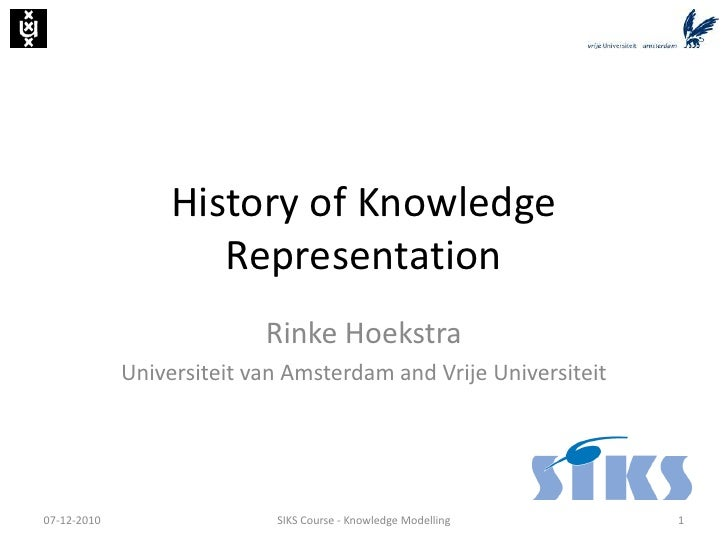 History of Knowledge Representation (SIKS Course 2010)
