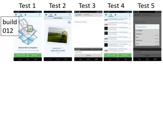 Test 1    Test 2   Test 3   Test 4   Test 5build012build013                 Are they different?