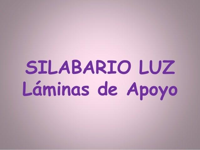 Laminas De Apoyo Del Silabario Luz