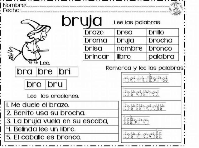 Dibujos Con La Trabada Br: Silabas Trabadas