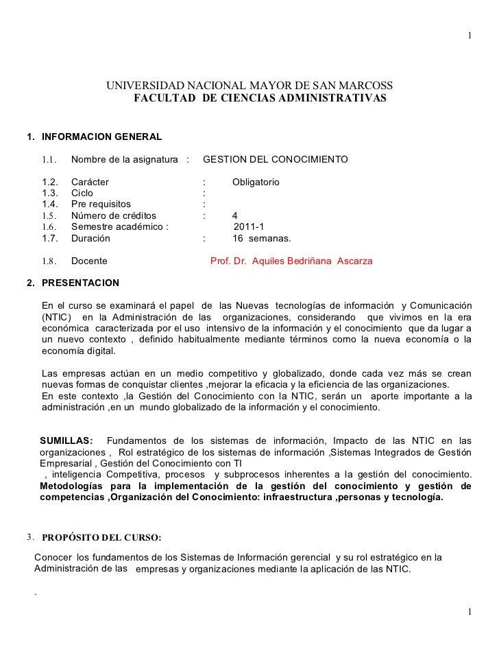 1                   UNIVERSIDAD NACIONAL MAYOR DE SAN MARCOSS                       FACULTAD DE CIENCIAS ADMINISTRATIVAS1....