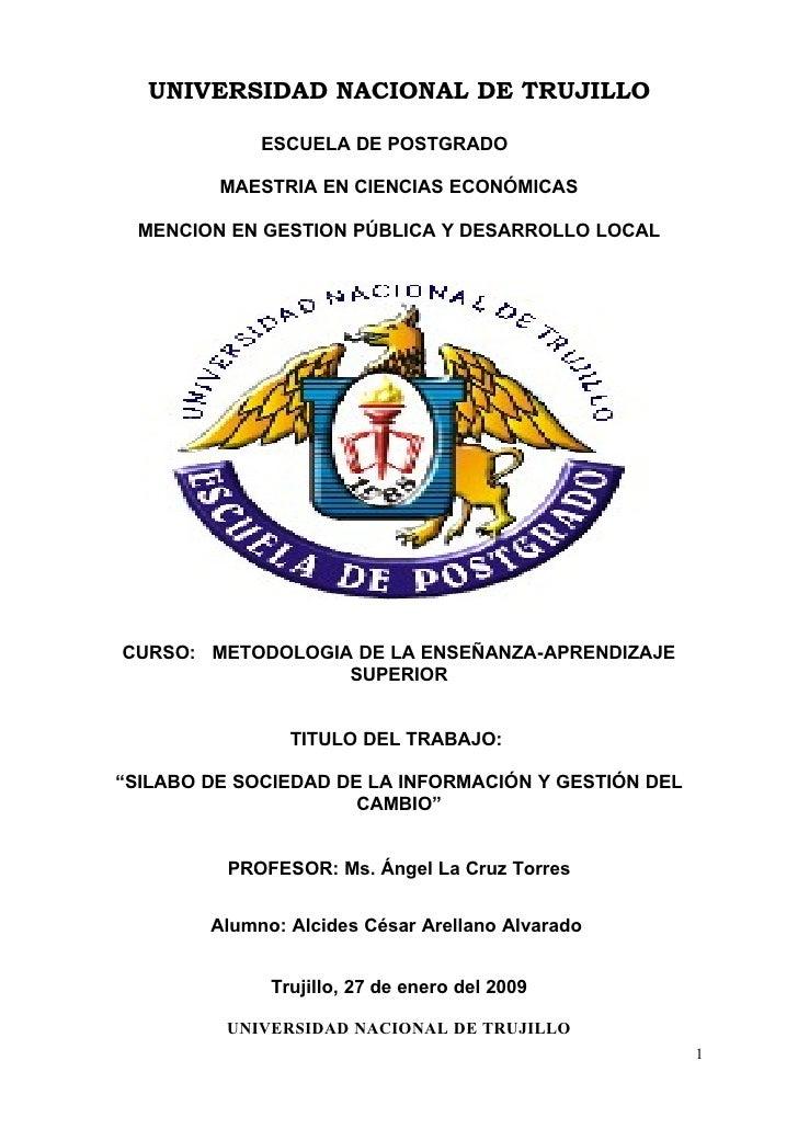 UNIVERSIDAD NACIONAL DE TRUJILLO               ESCUELA DE POSTGRADO           MAESTRIA EN CIENCIAS ECONÓMICAS    MENCION E...