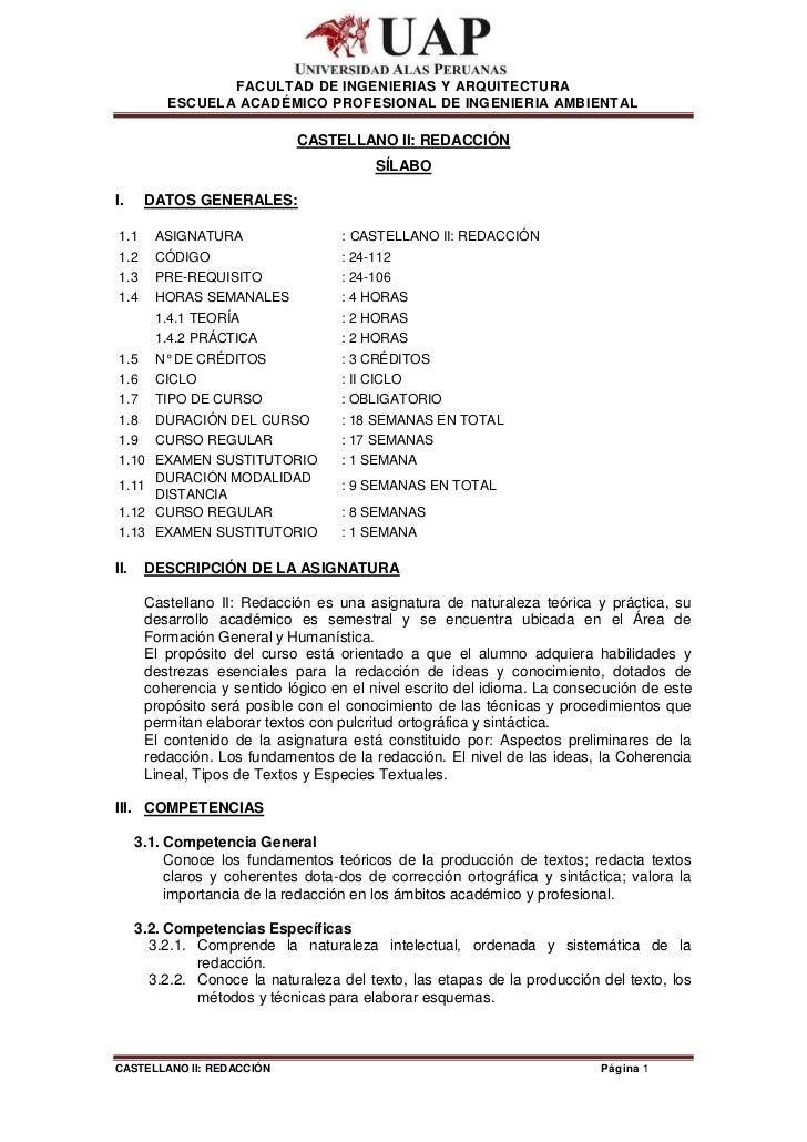 FACULTAD DE INGENIERIAS Y ARQUITECTURA          ESCUELA ACADÉMICO PROFESIONAL DE INGENIERIA AMBIENTAL                     ...