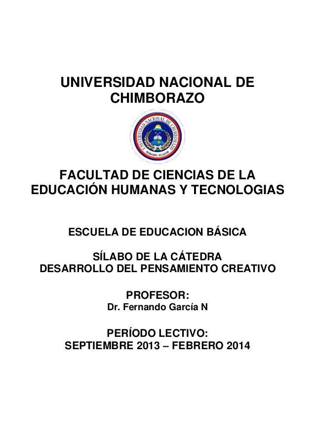 UNIVERSIDAD NACIONAL DE CHIMBORAZO FACULTAD DE CIENCIAS DE LA EDUCACIÓN HUMANAS Y TECNOLOGIAS ESCUELA DE EDUCACION BÁSICA ...