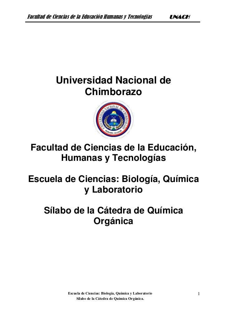 Facultad de Ciencias de la Educación Humanas y Tecnologías                UNACH             Universidad Nacional de       ...