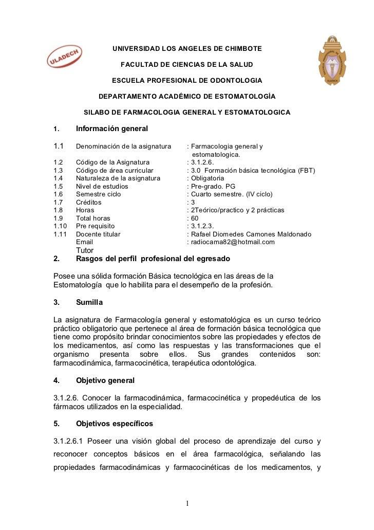 UNIVERSIDAD LOS ANGELES DE CHIMBOTE                     FACULTAD DE CIENCIAS DE LA SALUD                  ESCUELA PROFESIO...