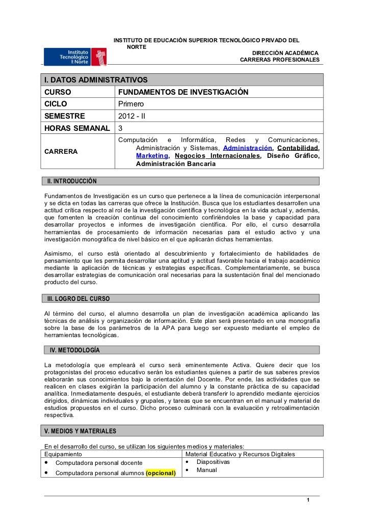 INSTITUTO DE EDUCACIÓN SUPERIOR TECNOLÓGICO PRIVADO DEL                               NORTE                               ...
